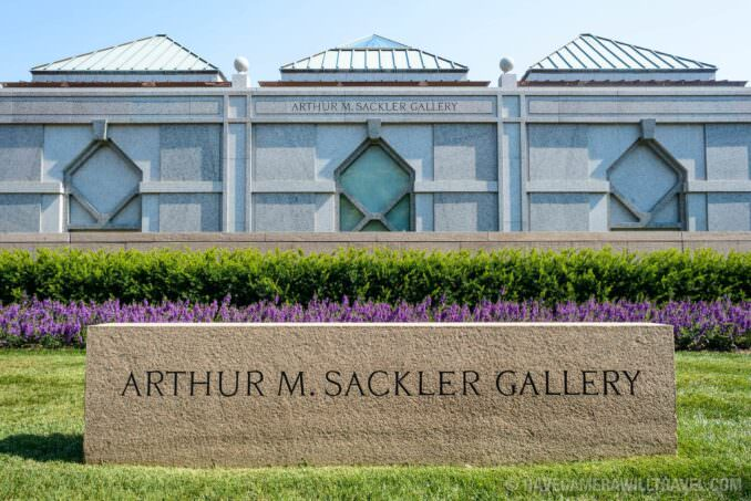185-140342746 Sackler Gallery Building with Sign.
