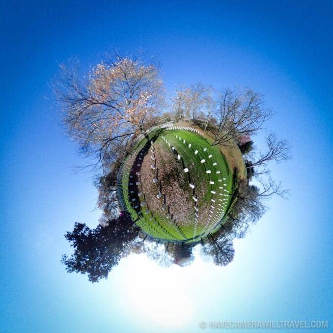 Tiny Planet photo of Washington DC Arlington Cemetery