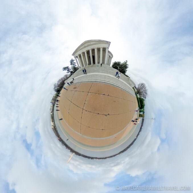 Tiny Planet photo of Washington DC