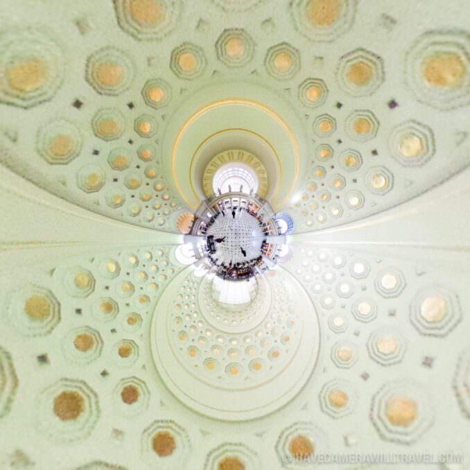 Tiny Planet photo of Washington DC Inside Union Station