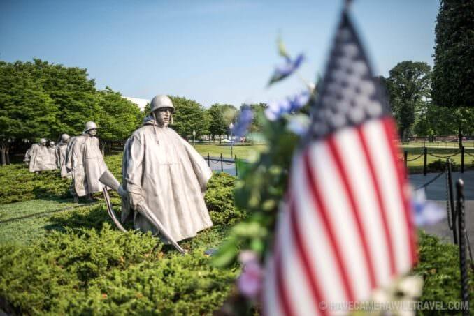 172-13010411 Korean War Veterans Memorial in Washingotn DC.