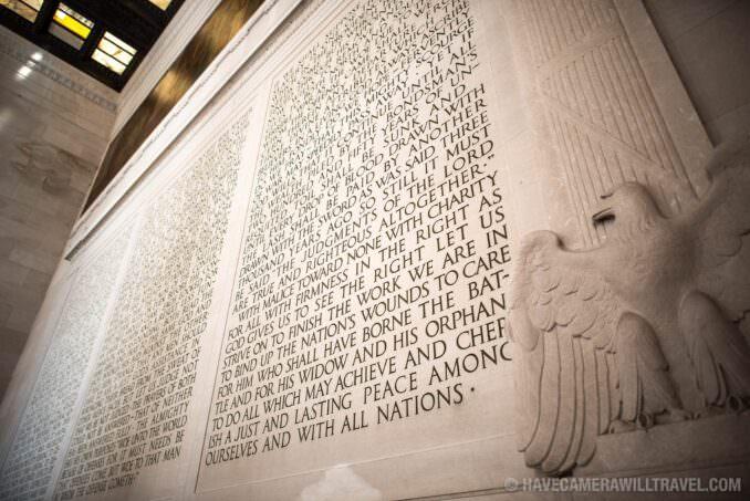 Lincoln Memorial Inaugural Address.