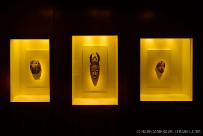 183-15041951 Smithsonian National Museum of African Art Three Masks.