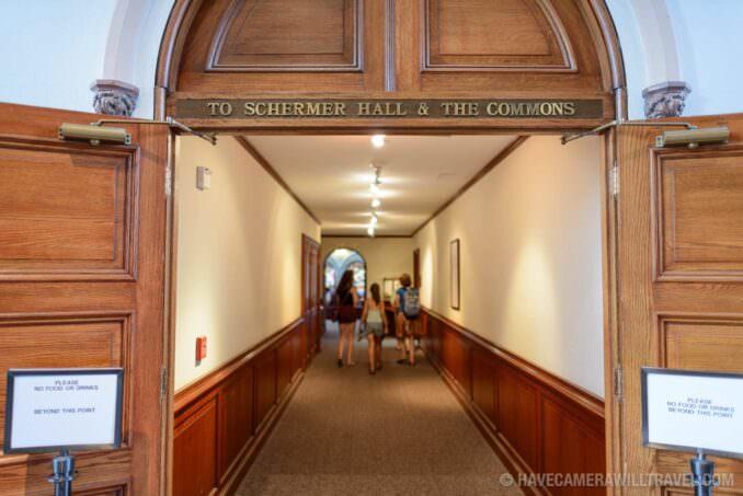183-15461282 Smithsonian Castle Schermer Hall and Commons Corridor.