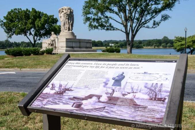184-133609167 John Ericsson National Memorial with Sign.