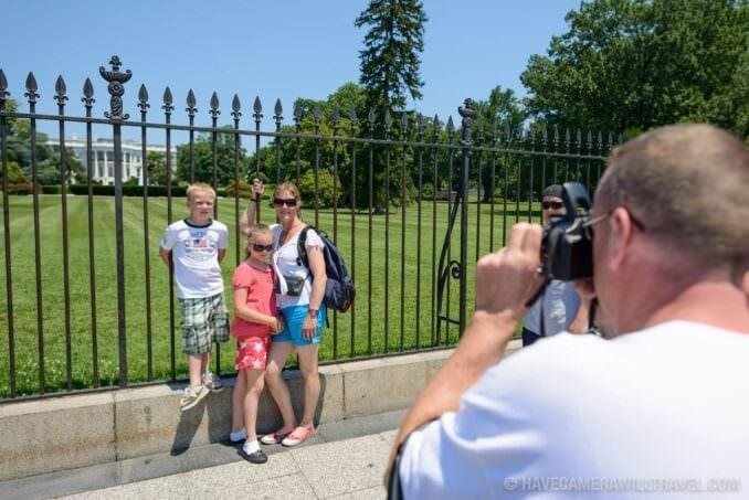 184-163305725 White House Tourist Family Posing for Photos.