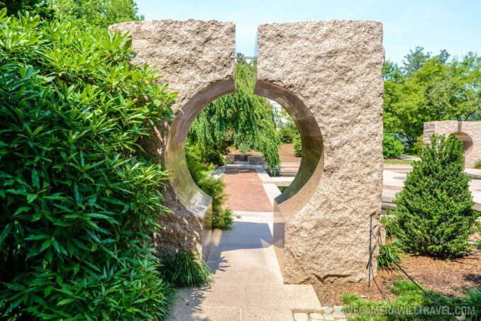 185-151156804 Moongate Garden Smithsonian Castle Gardens Granite Gate.
