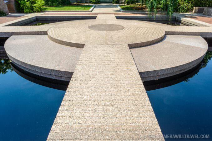 185-151343811 Moongate Garden Smithsonian Castle Gardens Granite Pond and Island.