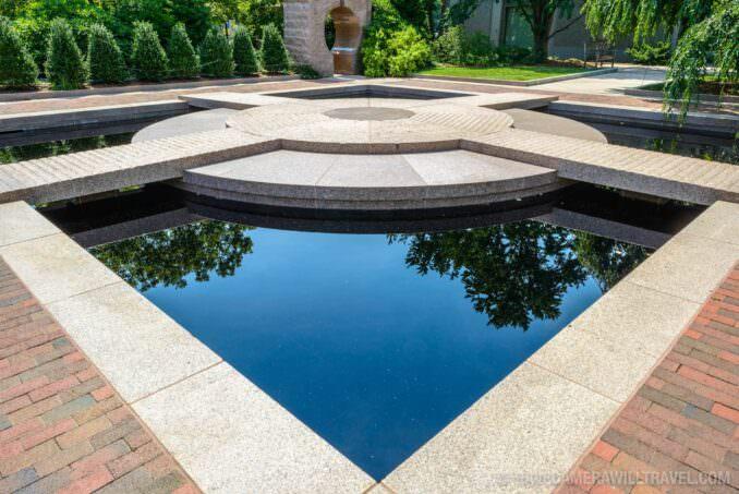 185-151405812 Moongate Garden Smithsonian Castle Gardens Black Granite Pond.