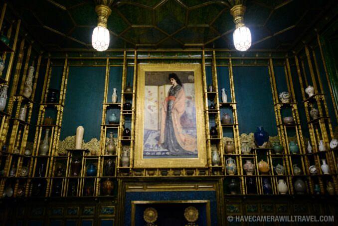 185-154424834 Freer Gallery of Art Peacock Room Painting.