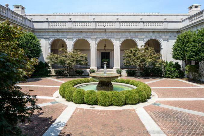 185-155521864 Freer Gallery of Art Interior Courtyard.