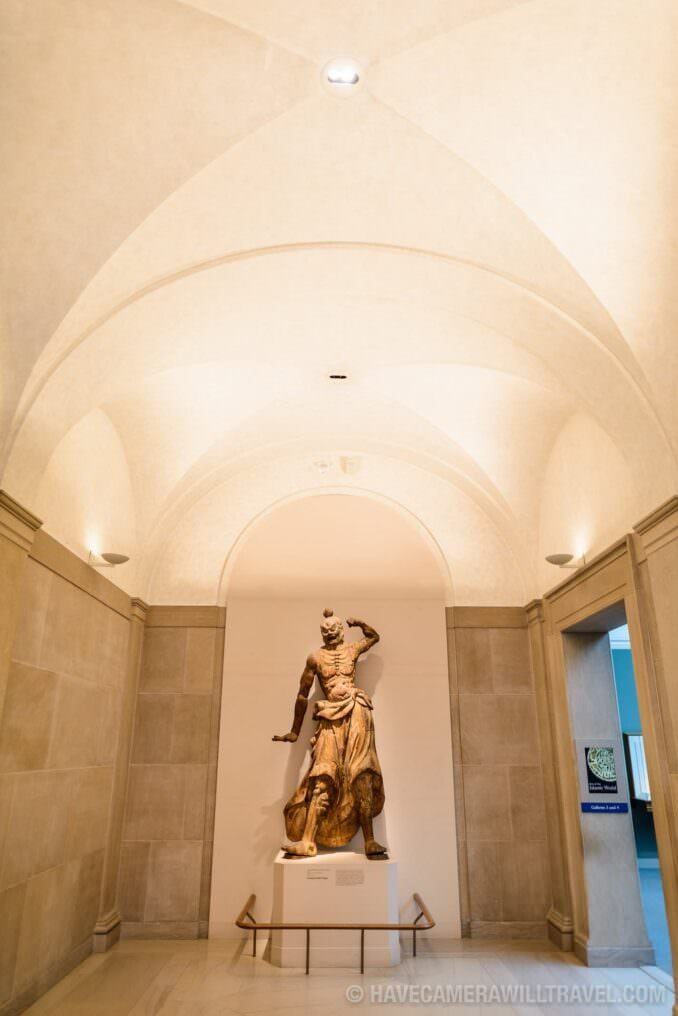 185-160328878 Freer Gallery of Art Statue and Corridor.