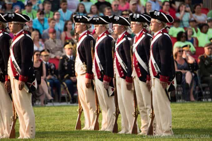 3rd U.S. Infantry Regiment (The Old Guard) at the Army Twilight Parade at Fort Myer, Virginia