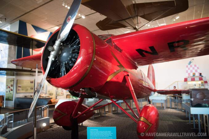 Amelia Earhart's Plane at the Smithsonian National Air and Space Museum in Washington DC