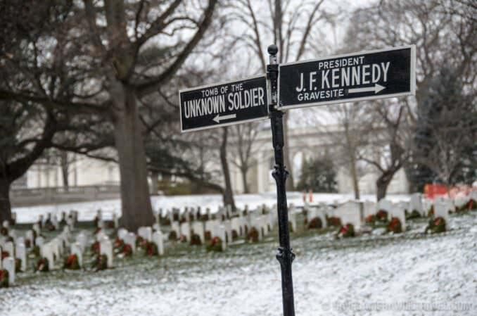 Arlington National Cemetery JFK Sign