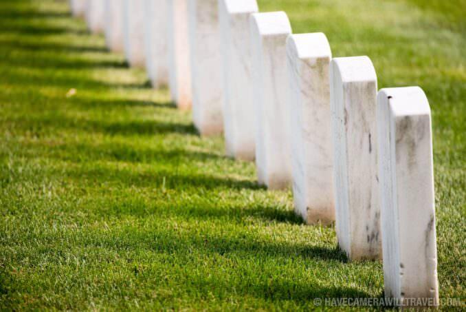 Arlington National Cemetery Row of Headstones