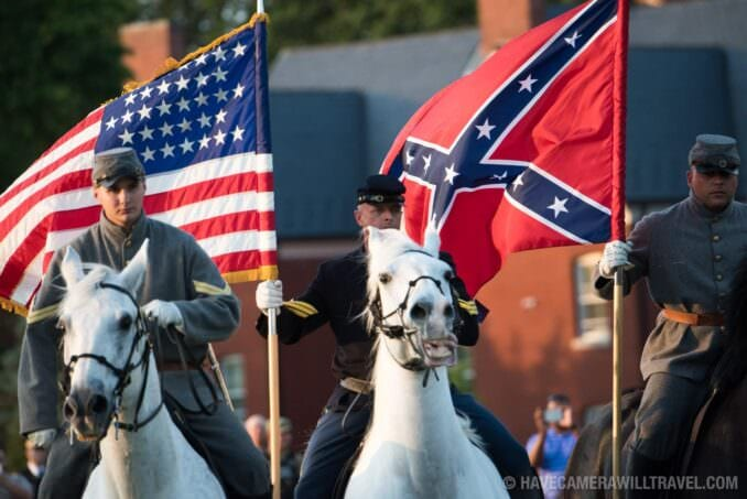 Army Soldiers Represent Civil War Soldiers at the Army Twilight Parade at Fort Myer, Virginia
