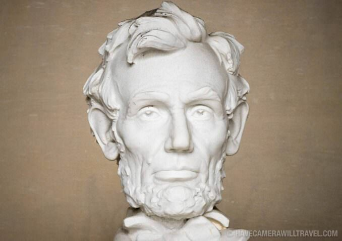 Bust of Abraham Lincoln at Lincoln Memorial