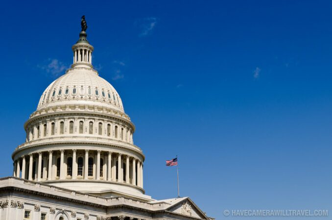 Capitol Building with Copyspace against Blue Sky