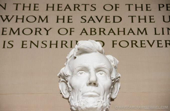 Close-up of Lincoln Memorial Statue