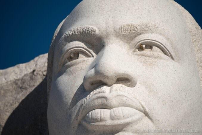 Close-Up of Statue at MLK Memorial, Washington DC