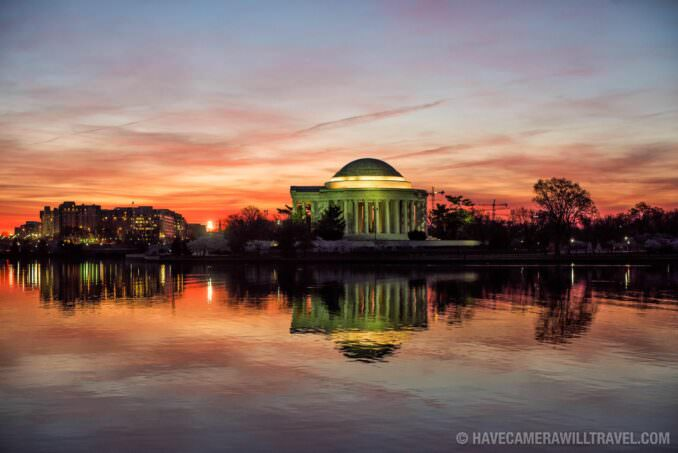 Clouds Just Before Sunrise at the Jefferson Memorial in Washington DC