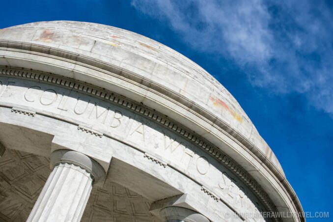 Dome of the Renovated World War I Memorial in Washington DC