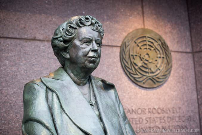 Eleanor Roosevelt Statue at the FDR Memorial in Washington DC