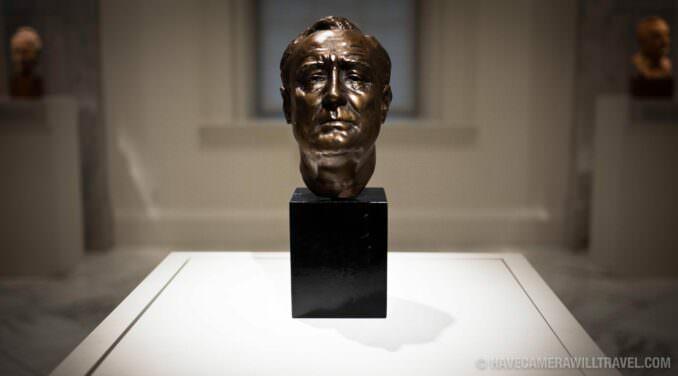 FDR bronze bust sculpture