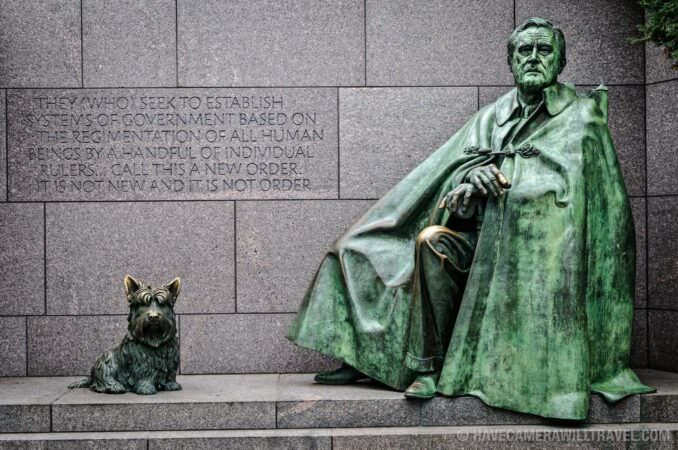 FDR Statue at the Roosevelt Memorial