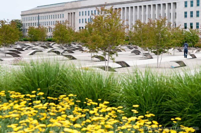 Flowers at the Pentagon Memorial