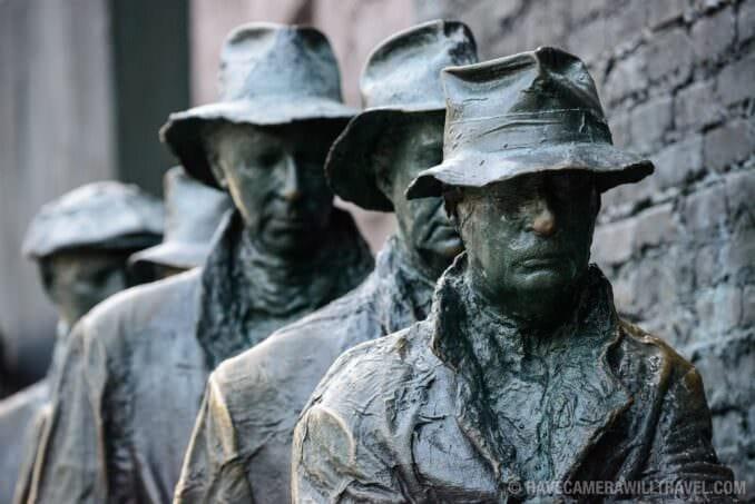 Great Depression Statues at FDR Memorial Washington DC