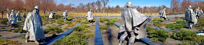 Korean War Memorial panorama