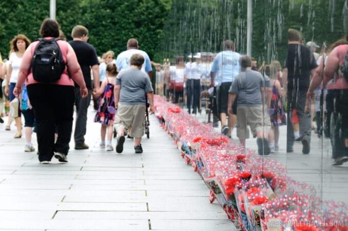 Korean War Memorial Tourists
