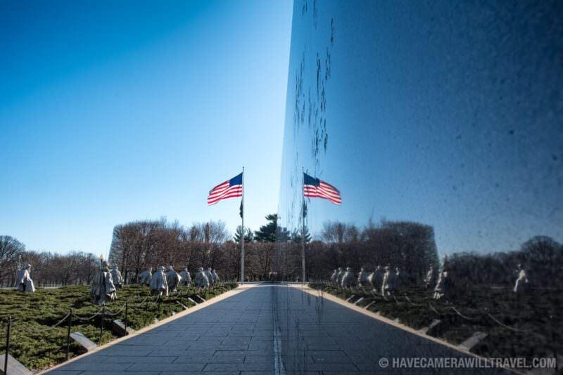 Korean War Veterans Memorial Reflection, Washington DC