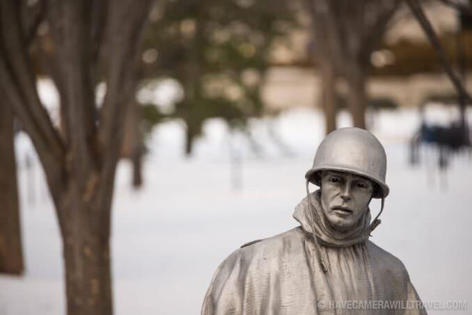 Korean War Veterans Memorial Statue Portrait