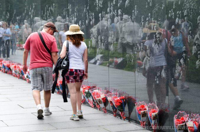 Korean War Veterans Memorial Washington DC Tourists