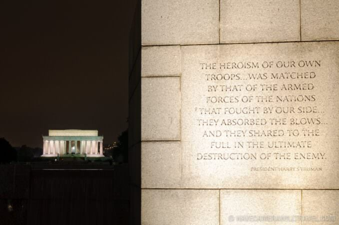 Lincoln Memorial and World War II Memorial