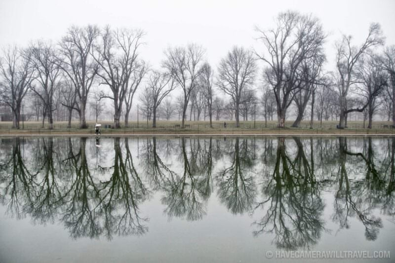 Lincoln Memorial Reflecting Pool Winter Mists Reflection