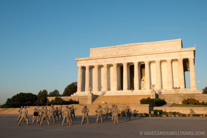 Lincoln Memorial Soldiers Training