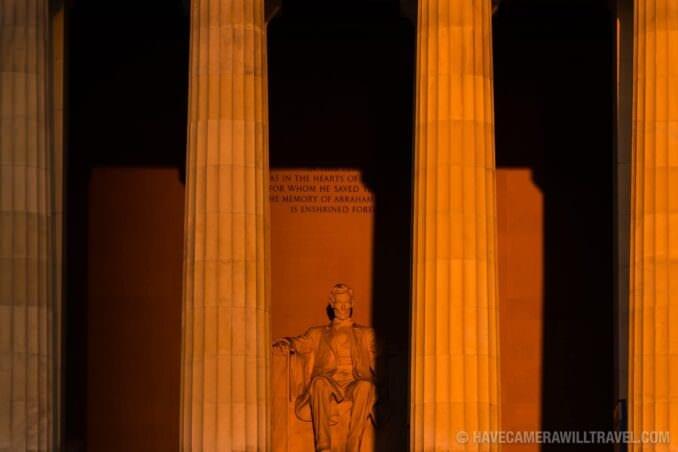 Lincoln Memorial Statue Sunrise