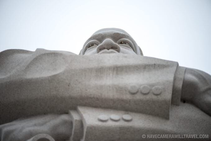 Looking Up at Martin Luther King Jr Memorial in Washington DC