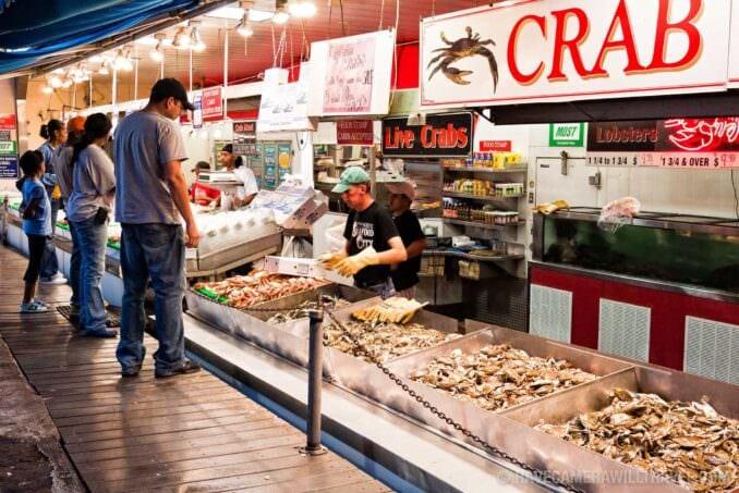 Maine Avenue Fish Market at night