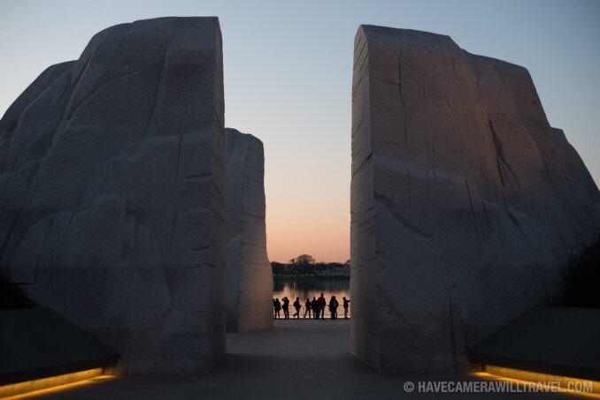 Martin Luther King Memorial in Washington DC at Dawn