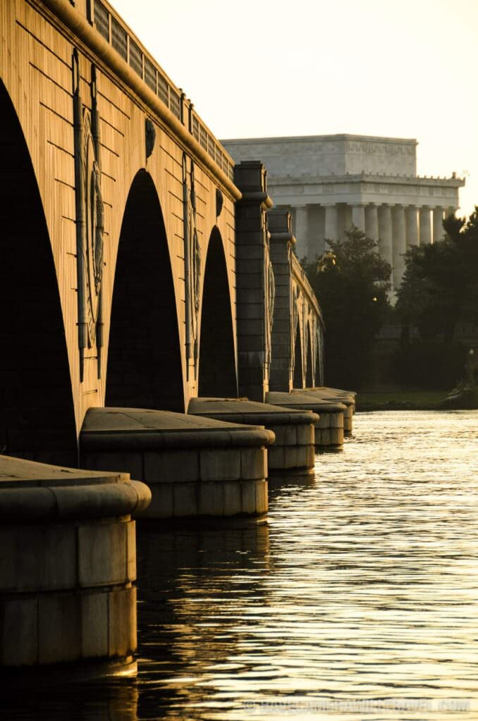 Memorial Bridge and Lincoln Memorial in the Early Morning Light