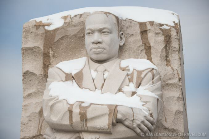 MLK Memorial in the Snow