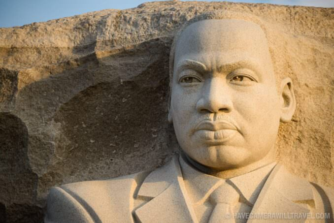 MLK Memorial Statue in the Early Morning Sun