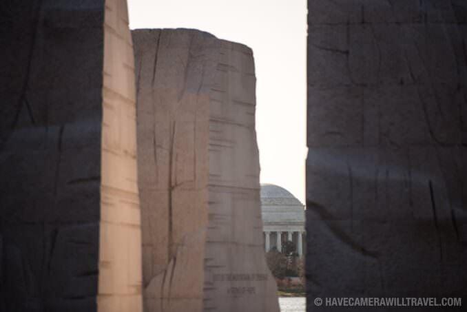 MLK Memorial Washington DC and Jefferson Memorial