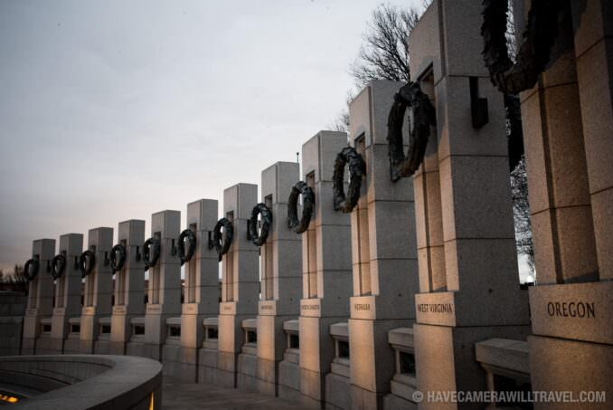 National World War II Memorial in the Early Morning