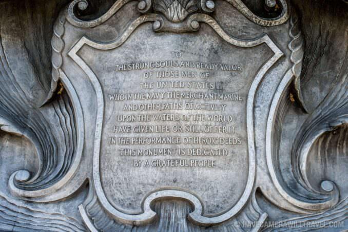 Navy-Marine Memorial in Arlington, VA, Dedication Plaque